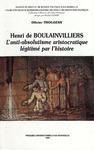 Livre numérique Henri de Boulainvilliers