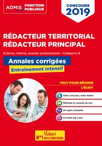 Livre numérique Concours Rédacteur territorial et rédacteur principal - Annales corrigées - Catégorie B