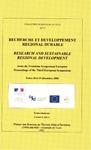 Livre numérique Recherche et développement régional durable