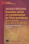 Livre numérique Économie sociale et transformation de l'État-providence dans le domaine de la santé et du bien-être