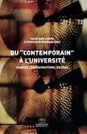 """Livre numérique Du """"contemporain"""" à l'université"""