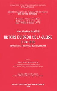 Livre numérique Histoire du droit de la guerre (1700-1819)