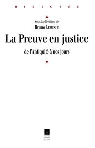 La preuve en justice