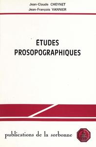 Livre numérique Études prosopographiques