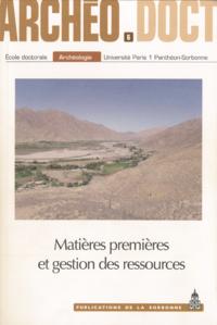 Livre numérique Matières premières et gestion des ressources