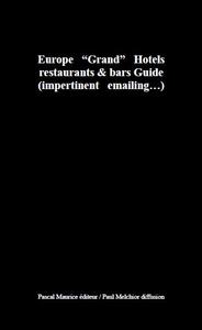 "GH : Europe ""Grand"" Hotels"
