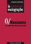 Livre numérique le Sociographe n°0 : Naissances. Le travail social dans tous ses écrits