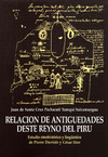 Livre numérique Relación de antiguedades deste reyno del Piru