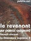 Livre numérique Le Revenant (sur Pascal Quignard)