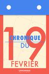 Livre numérique Chronique du 19  février