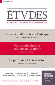 Revue Etudes : vers quelle Europe voulons-nous aller ?
