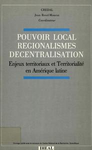 Livre numérique Pouvoir local, régionalismes, décentralisation
