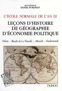 Livre numérique L'École normale de l'An III. Vol. 2, Leçons d'histoire, de géographie, d'économie politique