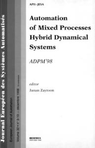 Livre numérique Automation of mixed processes hybrid dynamical systems (JESA Vol. 32 n°9-10)