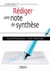Livre numérique Rédiger une note de synthèse