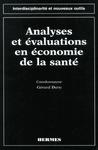 Livre numérique Analyses et évaluations en économie de la santé (coll. Interdisciplinarité et nouveaux outils)