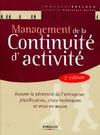 Livre numérique Management de la continuité d'activité