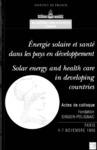 Livre numérique Energie solaire et santé dans les pays en développement (colloque de l'Académie des sciences)