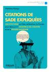 Livre numérique Citations de Sade expliquées
