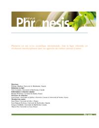 Phronesis Vol 3 num?ro 4
