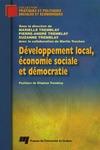Livre numérique Développement local, économie sociale et démocratie