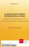 Livre numérique La bonne foi en droit international public