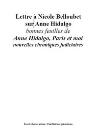 Lettre à Nicole Belloubet sur Anne Hidalgo