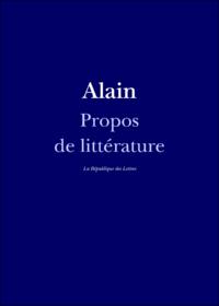 Livre numérique Propos de littérature