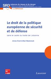 Livre numérique Le droit de la politique européenne de sécurité et de défense (collection SRD, série