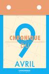 Livre numérique Chronique du 9  avril