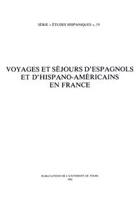 Livre numérique Voyages et séjours d'Espagnols et d'Hispano-Américains en France