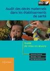 Livre numérique Audit des décès maternels dans les établissements de santé
