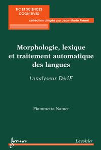 Livre numérique Morphologie, lexique et traitement automatique des langues