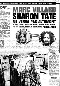 Livre numérique Sharon Tate ne verra pas Altamont