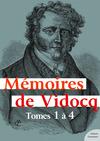 Livre numérique Mémoires de Vidocq, tomes 1 à 4