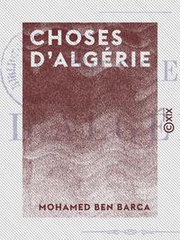 Choses d'Algérie