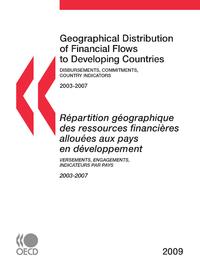 Répartition géographique des ressources financières allouées aux pays en développement 2009