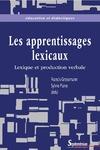 Livre numérique Les apprentissages lexicaux