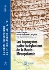 Livre numérique Les toponymes paléo-babyloniens de la Haute-Mésopotamie
