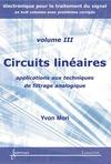 Livre numérique Circuits linéaires : applications aux techniques de filtrage analogique (Manuel d'électronique pour le traitement du signal Vol. 3)