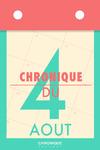 Livre numérique Chronique du 4 août