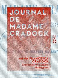 Journal de Madame Cradock, VOYAGE EN FRANCE (1783-1786)