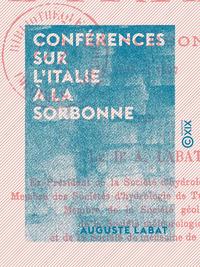 Conf?rences sur l'Italie ? la Sorbonne