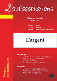 Livre numérique L'argent - 20 dissertations avec analyses et commentaires