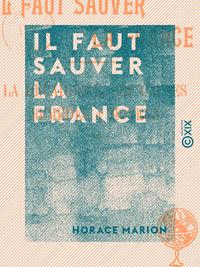 Il faut sauver la France - La décadence, ses causes, remèdes et moyens