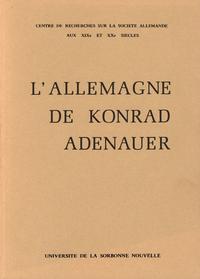 Livre numérique L'Allemagne de Konrad Adenauer