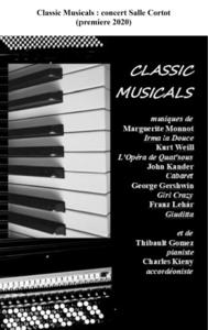 Classic Musicals, concert Salle Cortot