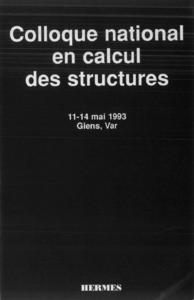 Livre numérique Colloque national en calcul des structures ,11-14 mai 1993 ,Giens ,Var (en 2 Volumes inséparables)