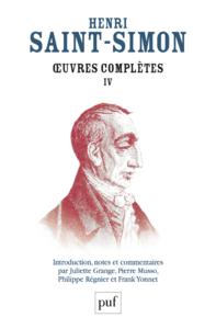 Œuvres complètes de Saint-Simon, Volume IV