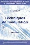 Livre numérique Techniques de modulation (Manuel d'électronique pour le traitement du signal Vol.4)